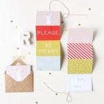 DIY Printable accordion gift tags