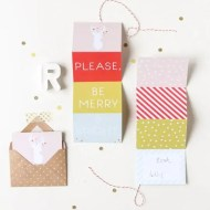 DIY printable accordion gift tag - sugar and cloth