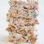 No Bake St. Patrick's Day Cereal Bars
