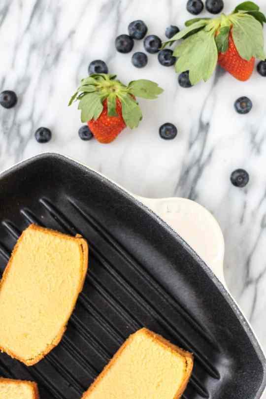 ten-minute, no fuss grilled poundcake recipe