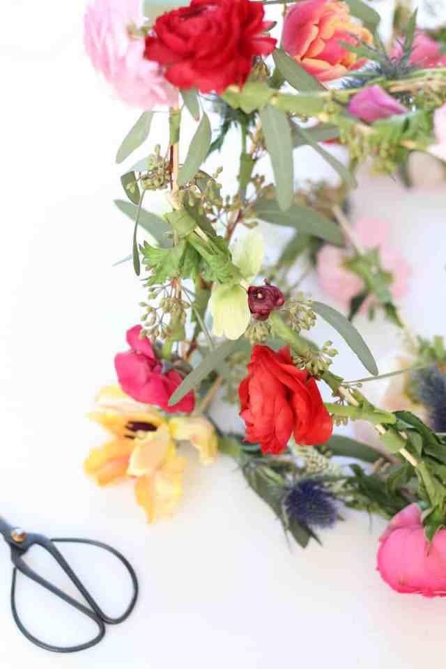 DIY geometric floral pendant
