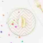 DIY Edible Golden Egg Place Settings