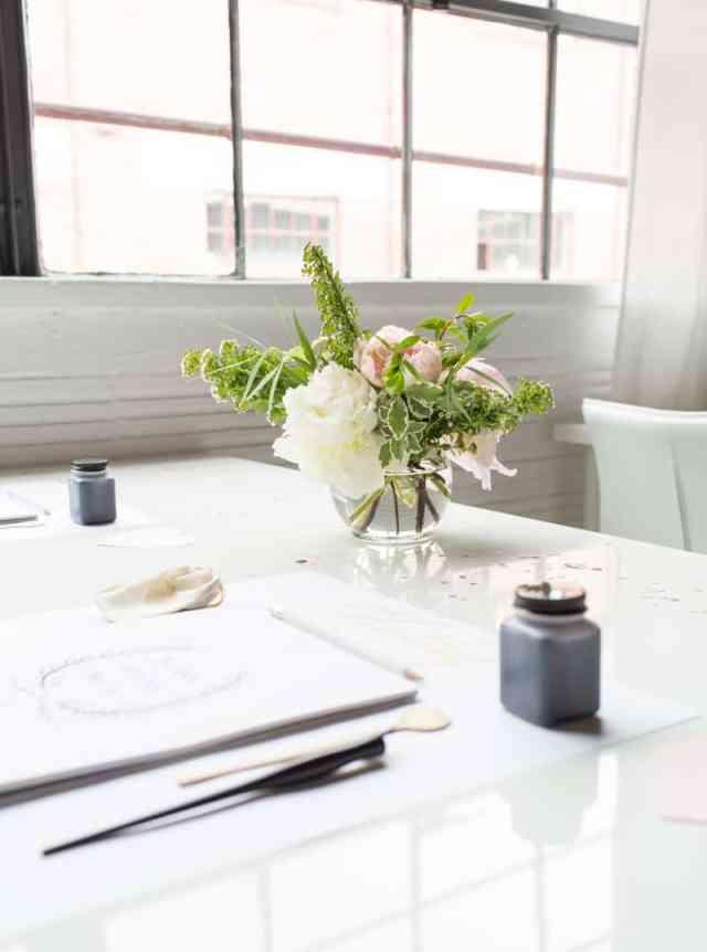Sugar & Cloth studio workshop with Laura Hooper Calligraphy | sugarandcloth.com