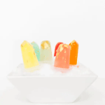 DIY Gilded gemstone popsicles