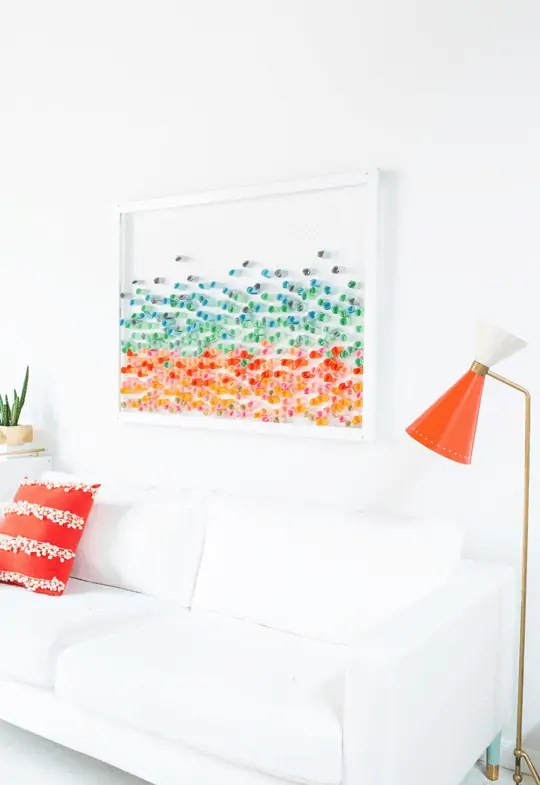 DIY paper wall art | sugarandcloth.com