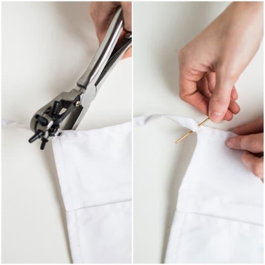 DIY no-sew floral apron gift