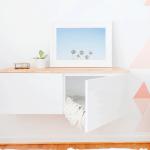 DIY Ikea Hack Floating Credenza