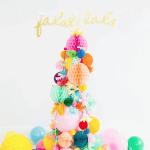 DIY Pom Pom Christmas Tree Idea