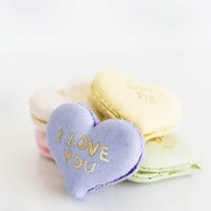 DIY conversation heart macarons | sugar & cloth