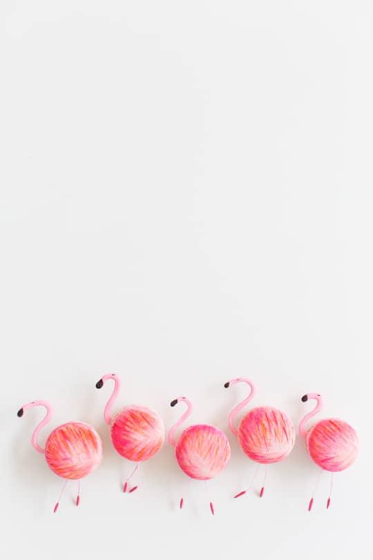 DIY flamingo macarons | sugar & cloth