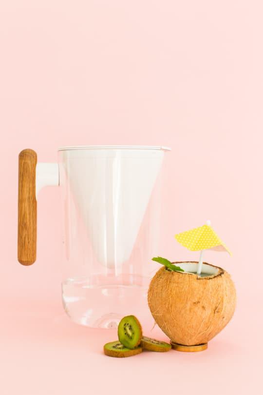 5 flavored water recipes & DIY fruit cups | sugar & cloth
