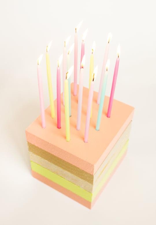 DIY Wooden Birthday Cake Decor Sugar & Cloth