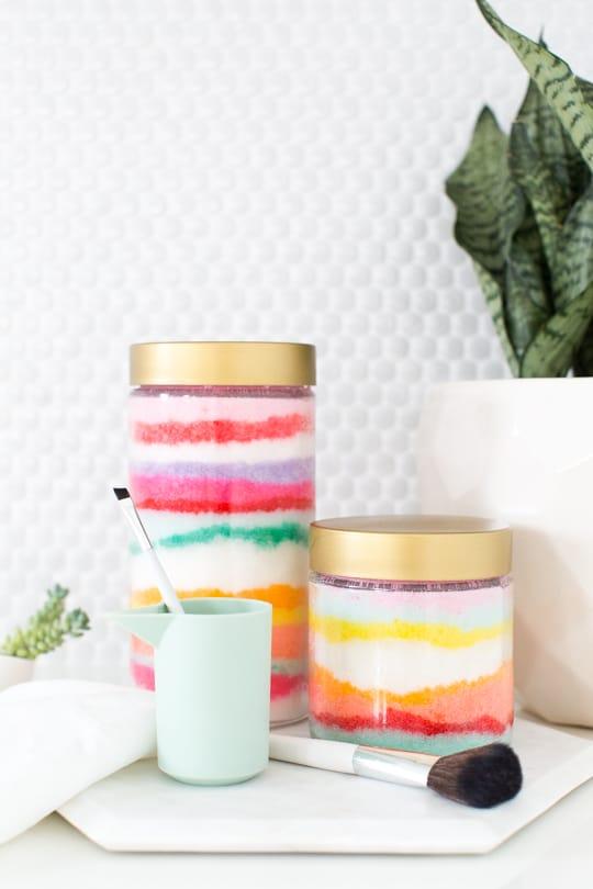DIY sugar scrub sand art - Sugar & Cloth