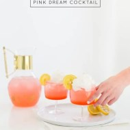pink dream cocktail recipe - sugar & cloth