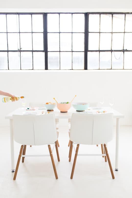 DIY Footed Serving Bowl - Sugar and Cloth