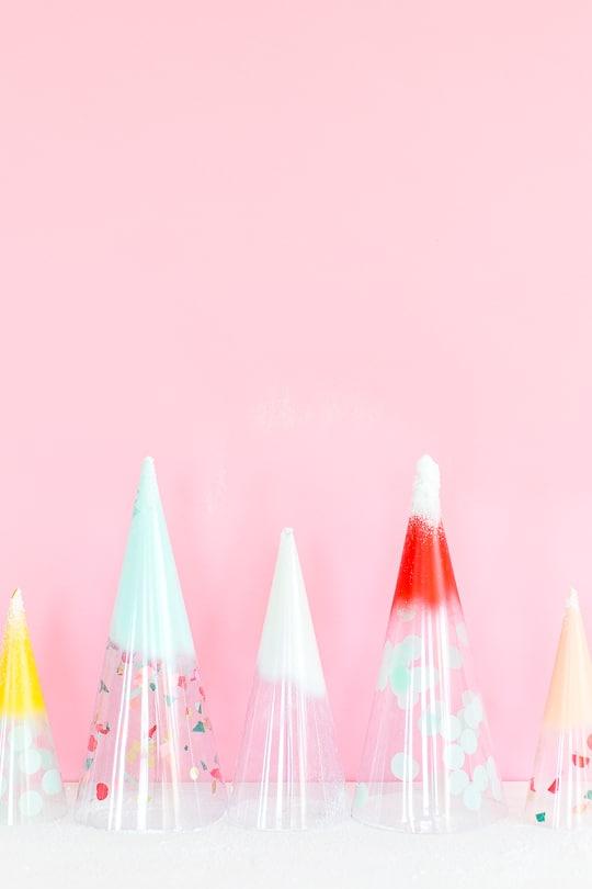 DIY Christmas trees: confetti domes - sugar & cloth