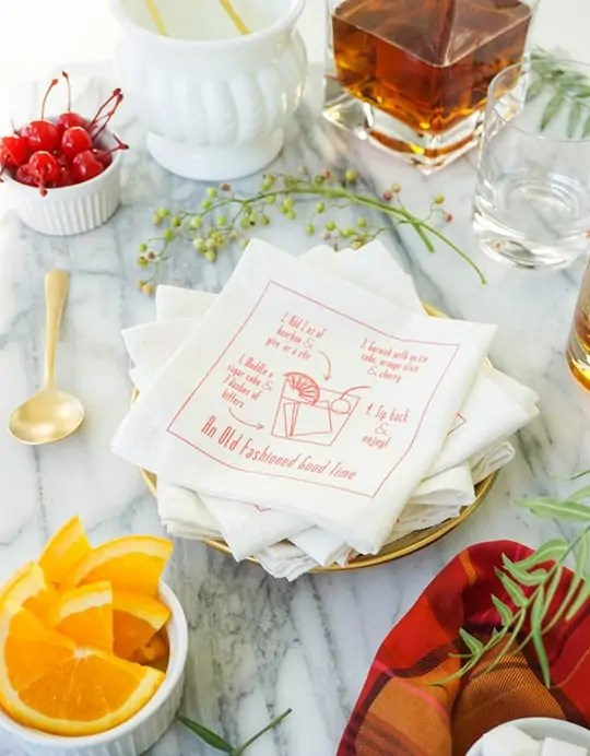 Info-graphic-cocktail-napkins
