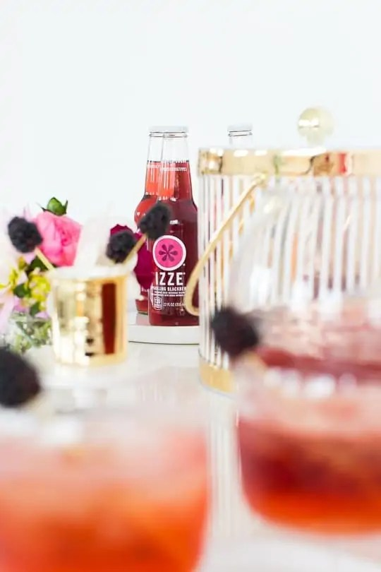 blackberry champagne punch recipe - sugar and cloth