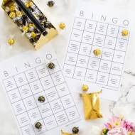 DIY truffle bingo printable template - blank bingo - golden globes bingo - sugar and cloth
