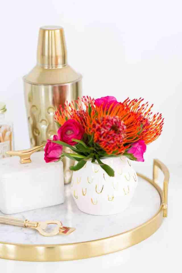boob print DIY patterned vase - sugar and cloth