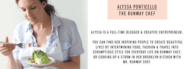 The Runway Chef Alyssa - Contributor - Sugar and Cloth