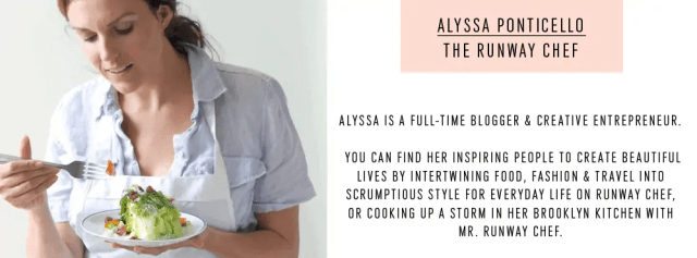 The Runway Chef Alyssa - Contributor - Sugar and Cloth