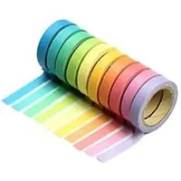This Rainbow Washi Tape is one of Sugar & Cloth's favorite DIY supplies.