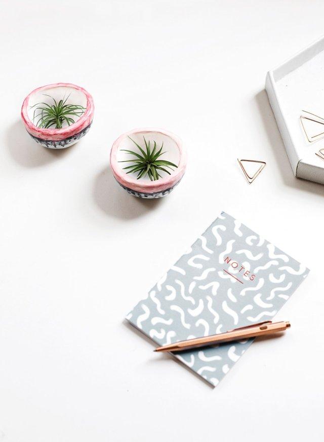 mini DIY plant pots - sugar and cloth - planter - spring