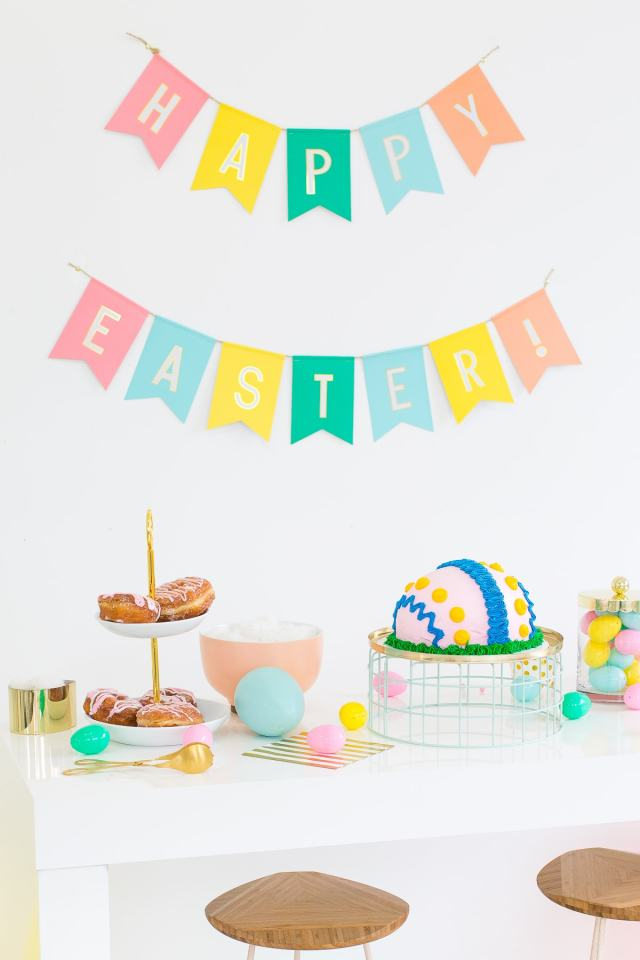 A playful Easter dessert table - sugar and cloth