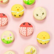The cutest DIY Easter macarons inspired by Lindt chocolates for Spring! - sugar and cloth