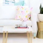 DIY Marble and Gold Accent Table