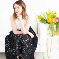 the prettiest lace hunter bell dress - sugar and cloth