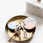 DIY Speckled Clay Keychains