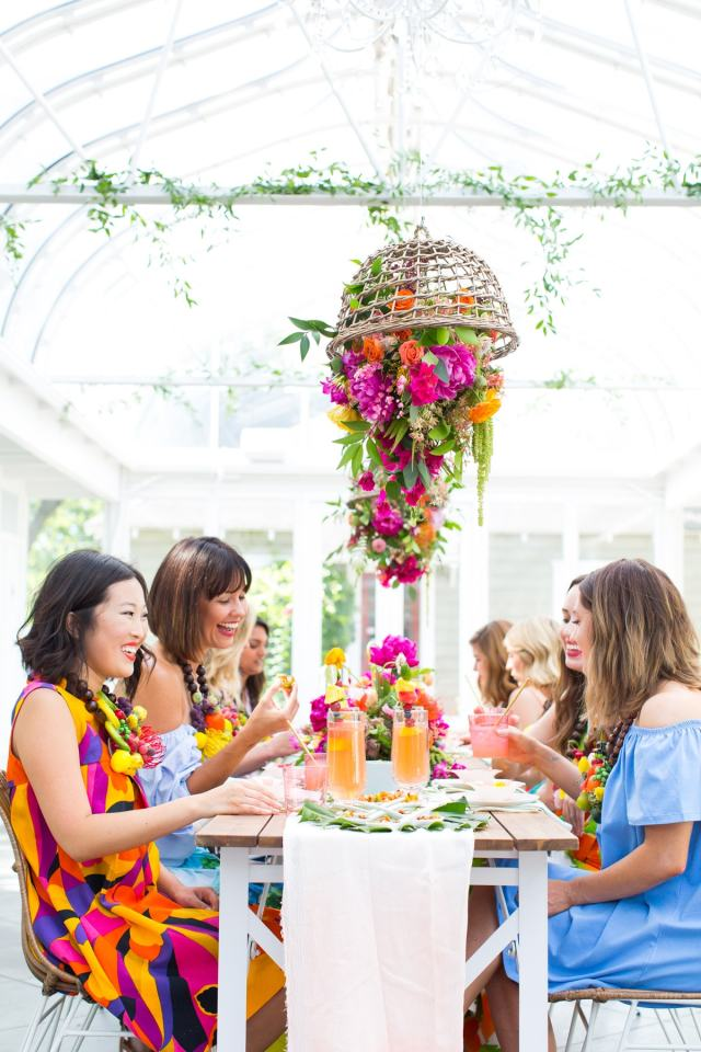 Our tropical garden party and DIY fruit necklaces for Summer! - sugar and cloth - houston blogger - entertaining ideas