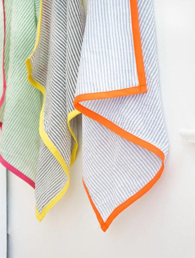 DIY Searsucker Tea Towels-11