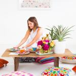 Floor Seating Ideas Diy Floor Table Sugar Cloth Diy Entertaining