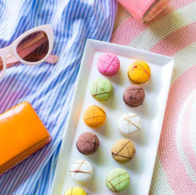 sugar and cloth behind the scenes lately, and we need a wedding hashtag - engagement macarons at the woodlands resort!