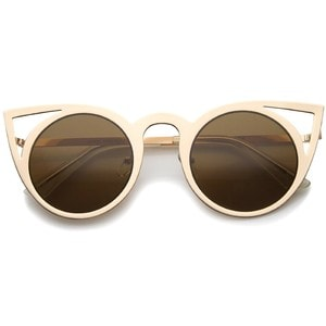 These Women's Fashion Mirror Lens Cat Eye Sunglasses are one of Sugar & Cloth's favorite style finds.