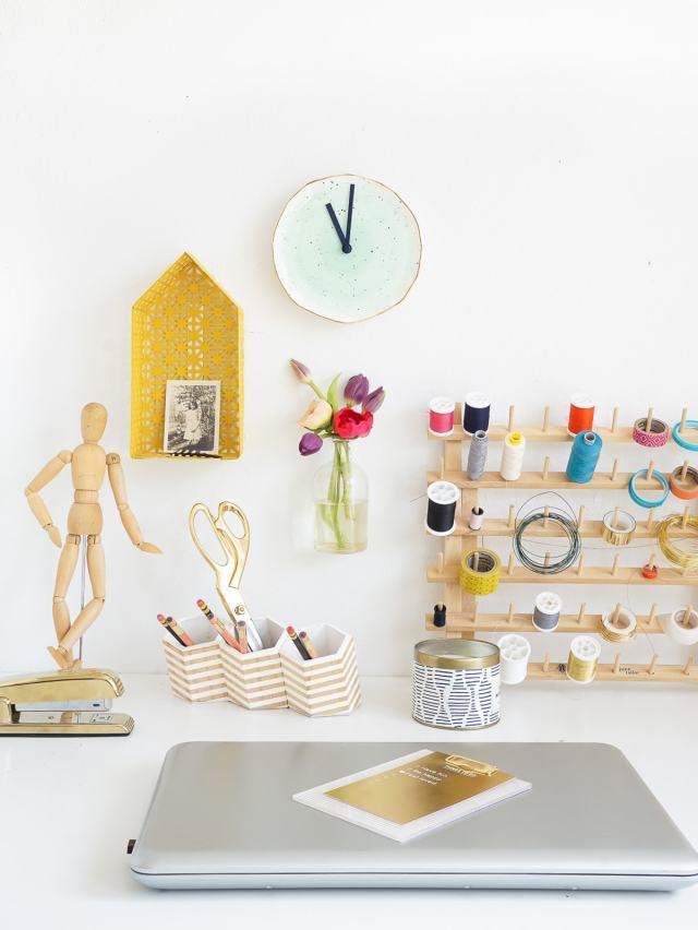 DIY Plate Clock - Sugar & Cloth - Home Decor - Houston Blogger