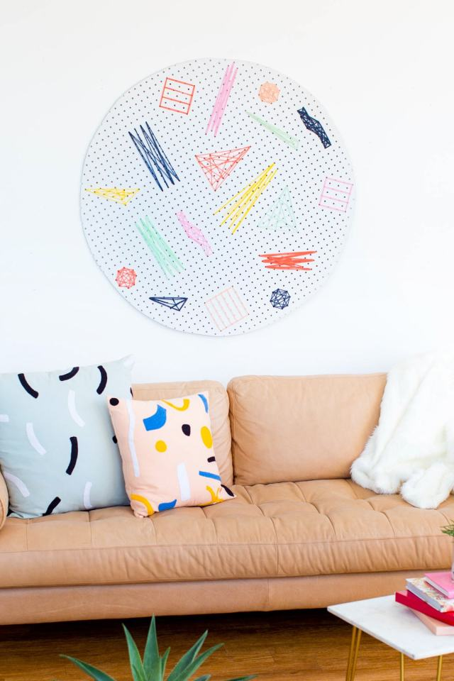 Diy Pegboard Wall Art Sugar Amp Cloth Home Decor Diy