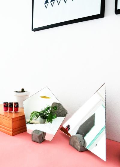 DIY Concrete Vanity Mirror by Ashley Rose of Sugar & Cloth, a top lifestyle blog in Houston, Texas
