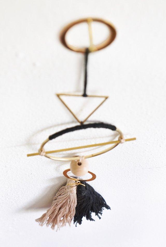 DIY Geometric Metal Wall Hang by Ashley Rose of Sugar & Cloth, a top lifestyle blog in Houston, Texas