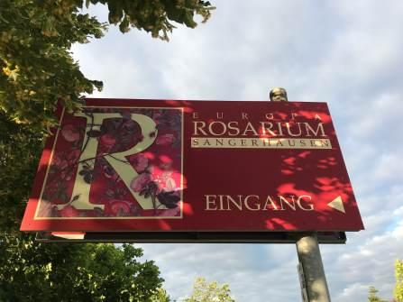 Eingang Rosarium