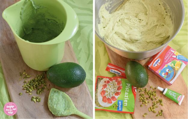 Avocado-Limetten-Kuchen-Duo