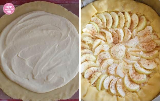 Apfelgalette-Zubereitung