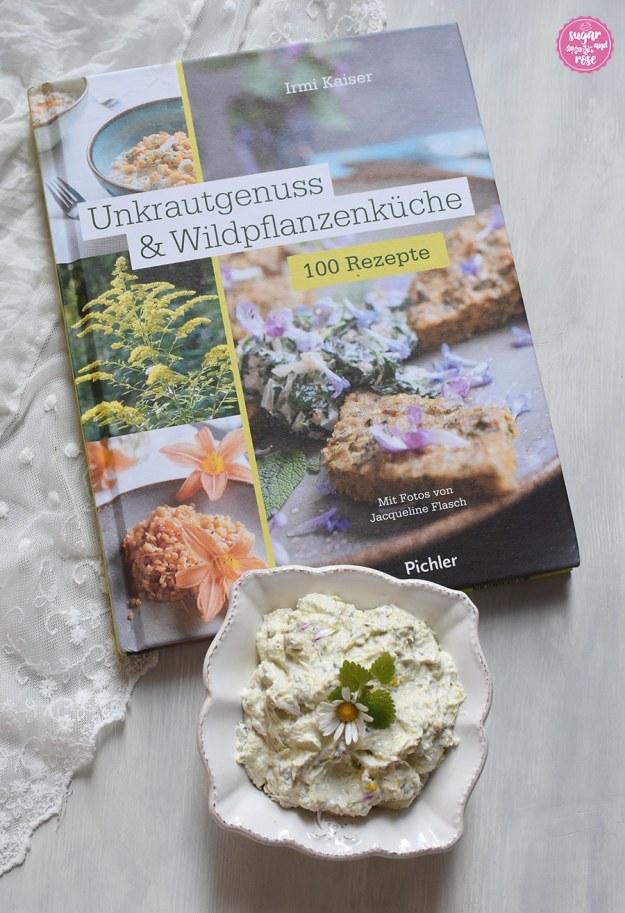 Unkrautgenuss-Buch und Gänseblümchenaufstrich