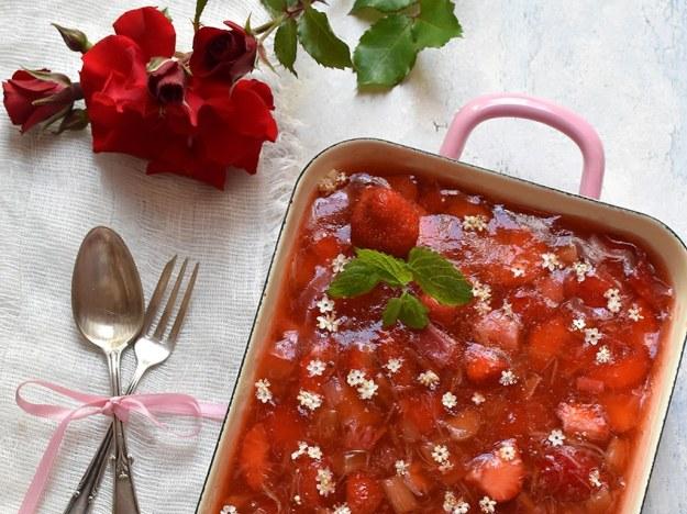 Erdbeer-Rhabarber-Gelee