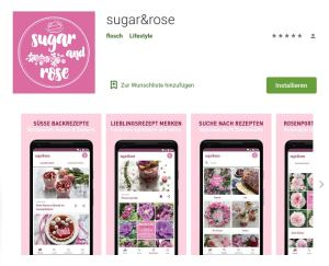 sugar&rose als Android-App