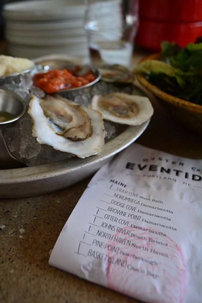 A small detail, but one of my favorites is that they give you a list of the type and place for each oyster on your plate. Clockwise, of course.