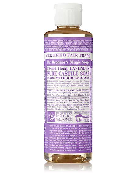 dr bonner castille soap lavender